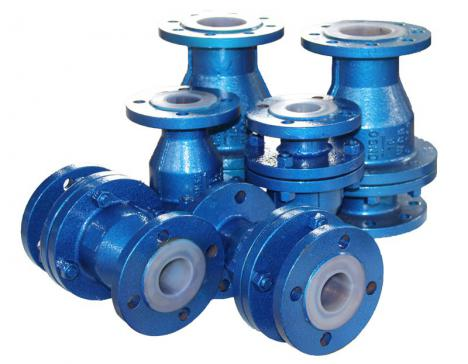 Fluorine check valve (swing type)