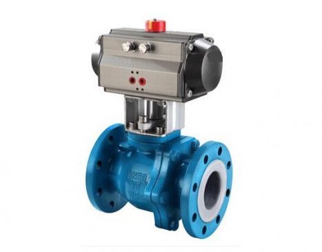 Fluorine pneumatic ball valve