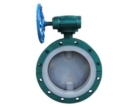 Fluorine lined butterfly valve (flange type)
