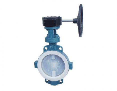 Fluorine lined butterfly valve (on the clip type)