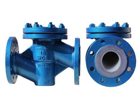 Fluorine check valve (horizontal)