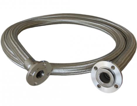 Flange connecting metal hose